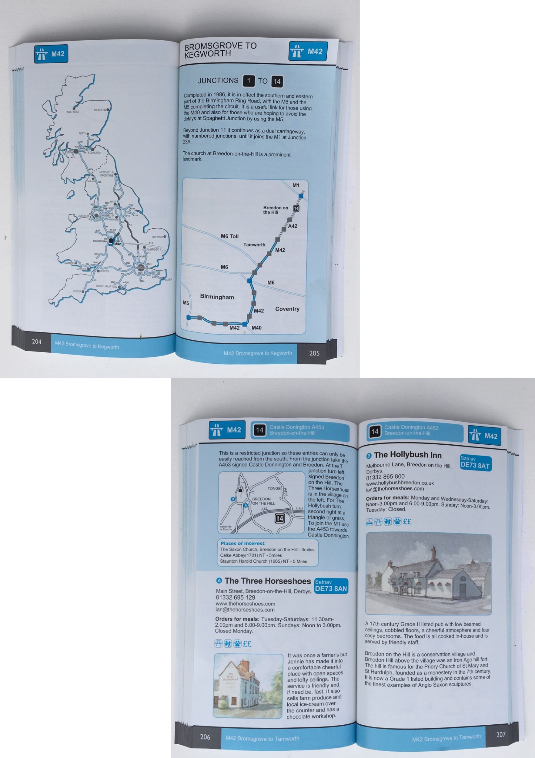Near the motorways example pages